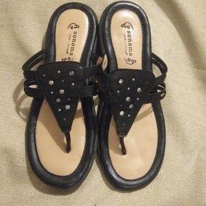 Sonoma Black leather sandal